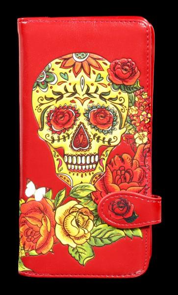 Geldbörse mit Totenkopf - Candy Rose