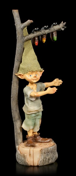 Pixie Goblin Figurine with Fireflies Traffic Light