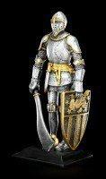 Ritter Figur mit Breitschwert und Schild