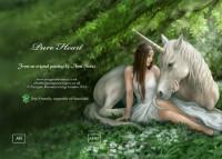 Fantasy Grußkarte Einhorn - Pure Heart