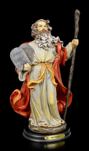 Moses Figurine with the Ten Commandments