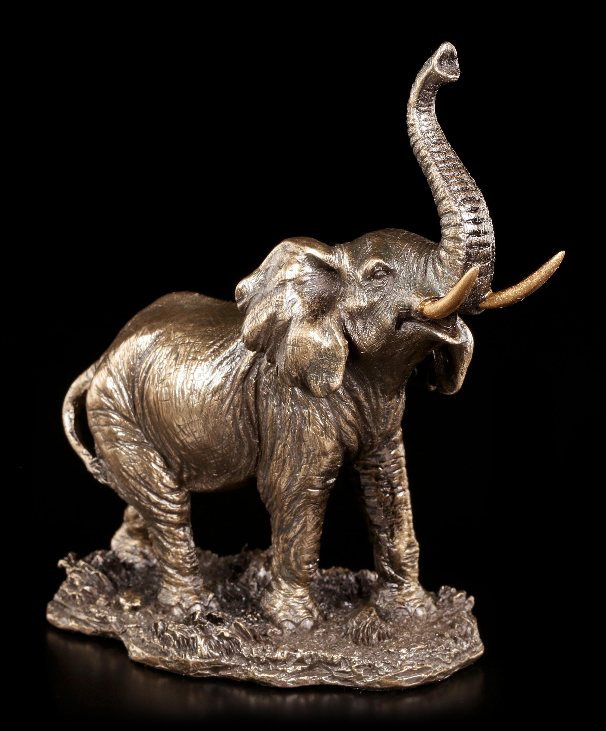 kleine elefanten figur stehend veronese. Black Bedroom Furniture Sets. Home Design Ideas