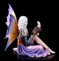 Elfen Figur - Salma sitzend mit Adler