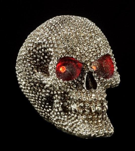 LED Totenkopf - Priceless Grin mit Diamantoptik