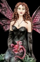 Fairy Figurine - Evelyne with small Dragon