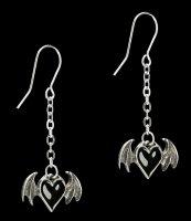 Alchemy Gothic Heart Earrings - Blacksoul