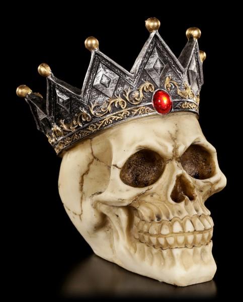 Totenkopf Spardose - König der Toten