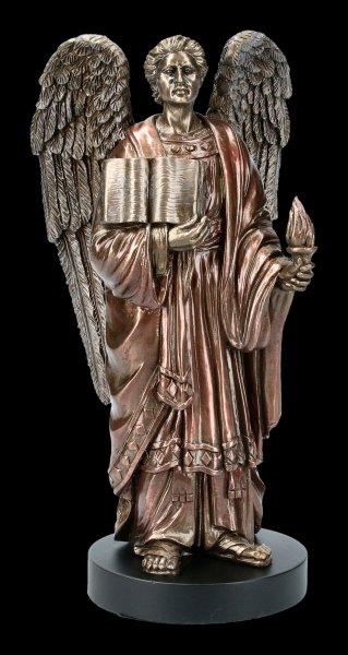 Archangel Uriel Figurine on Pedestal