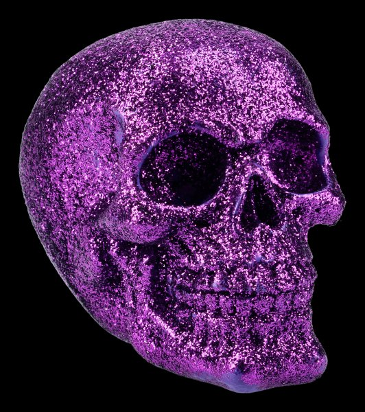 Skull - glitter purple