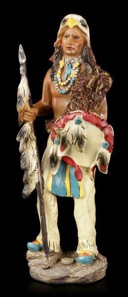 Indianer Figur - Mit Adlerkopf und Waffen