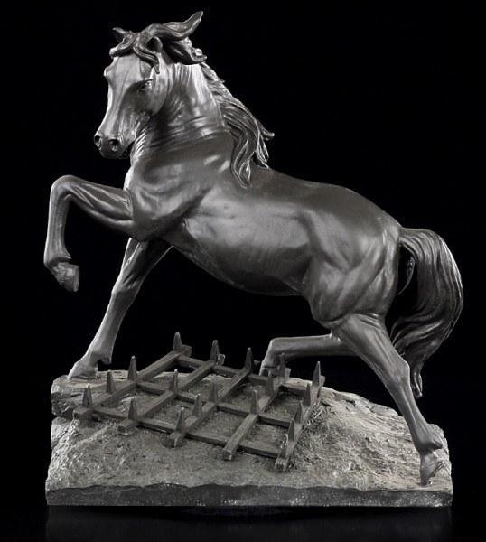 Black Horse Figurine - Cheval a la Herse