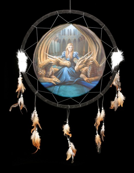 Large Dreamcatcher with Dragons - Fierce Loyalty