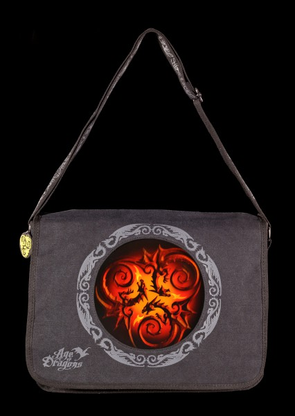 Messenger Bag with 3D Picture - Tribal Dragons