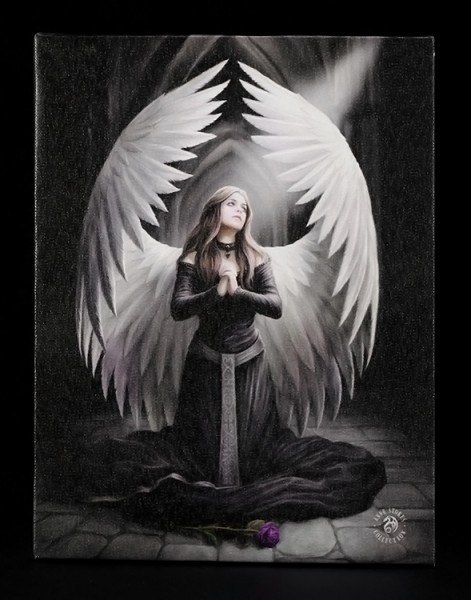 Kleine Leinwand - Prayer For The Fallen by Anne Stokes