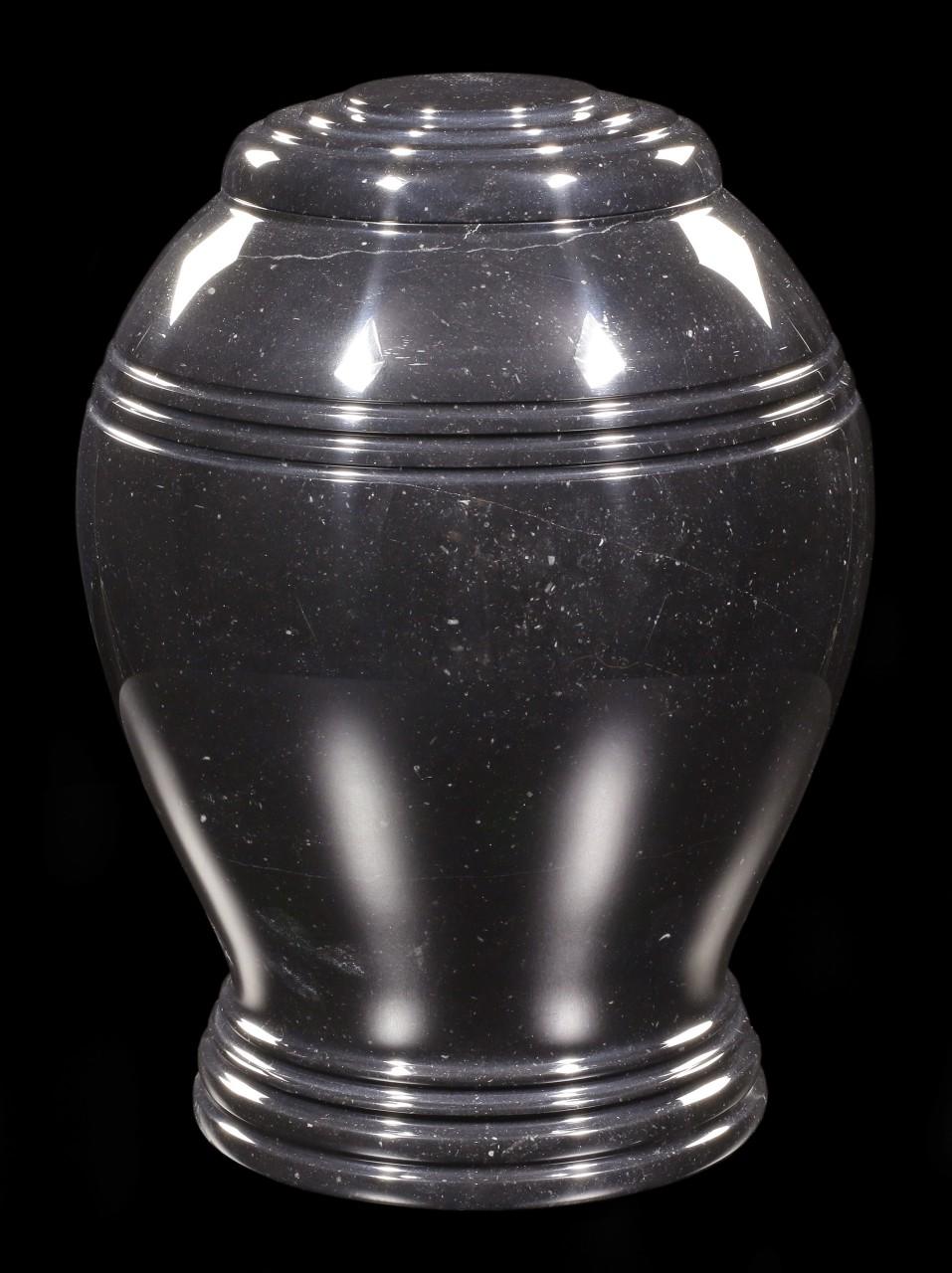 Schwarze Marmor Tier Urne - Charisma