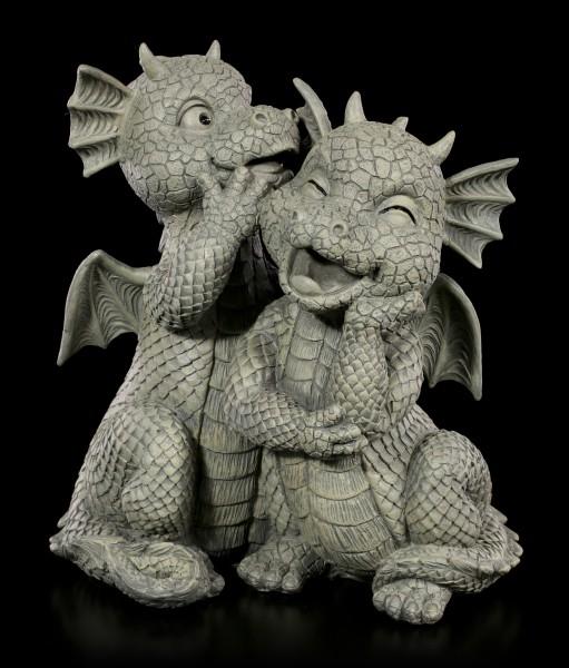 Drachenpaar Gartenfiguren - Liebesgeflüster