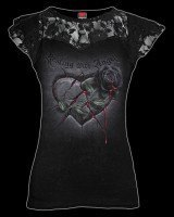 Damen Netz Shirt Gothic - Resting with Angels