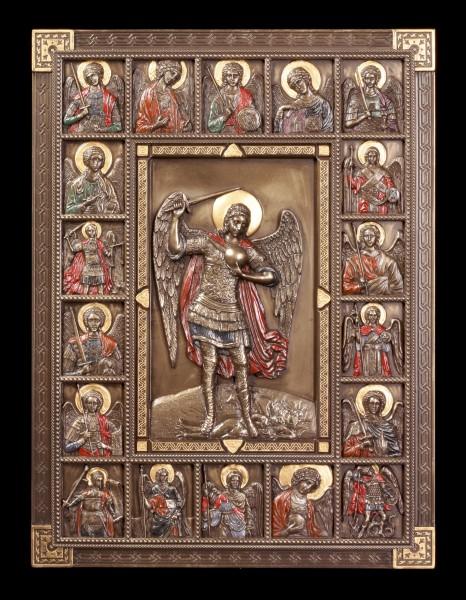 Wandrelief Ikone - Heiliger Erzengel Michael