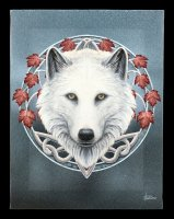 Small Canvas with Wolf - Guardian of the Fall