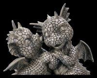 Gartenfigur - Drachen Liebespaar Küsschen