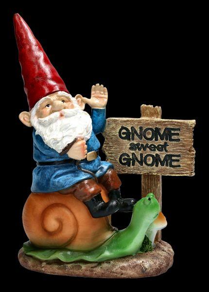 Gnome Figurine - Gnome Sweet Gnome