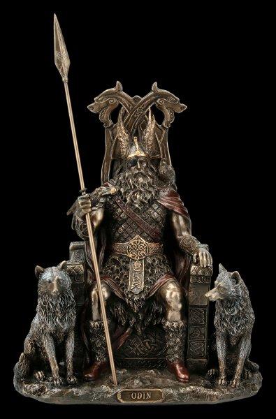 Odin Figurine - Germanic God Father on Throne
