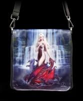Schultertasche mit Drachen - Dragon Bathers - geprägt