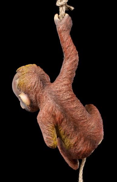 Gartenfigur - Baby Orang-Utan am Seil