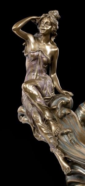 Nymphen Schale - bronziert