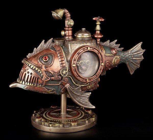 Steampunk Figurine - Fish Submarine - Sub Piranha
