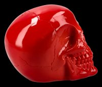 Skull - shiny red