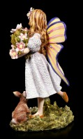 Fairy Figurine - Shanty with Flowers and Rabbit