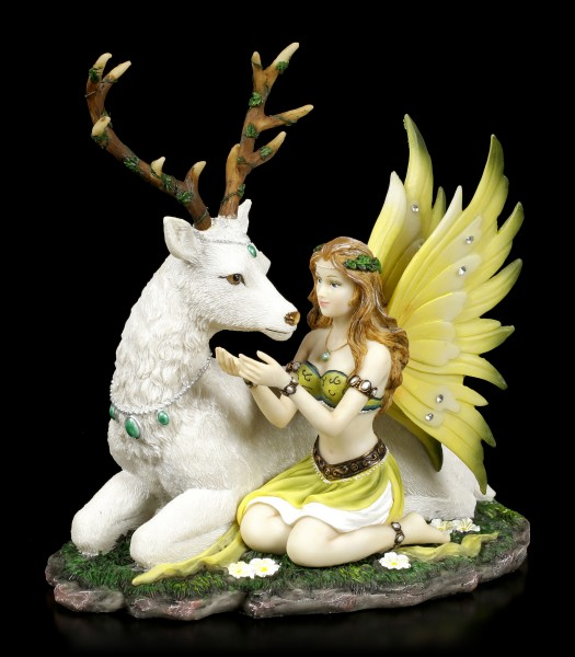 Fairy Figurine with Stag - Adoration