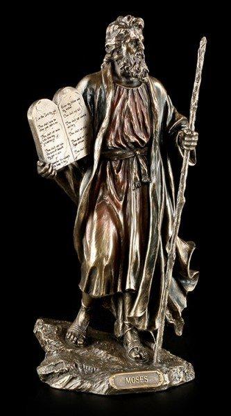 Moses Figur mit den zehn Geboten