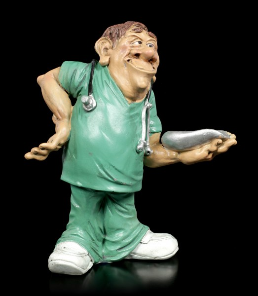 Funny Job Figurine - Male Nurse with Bed Bowl