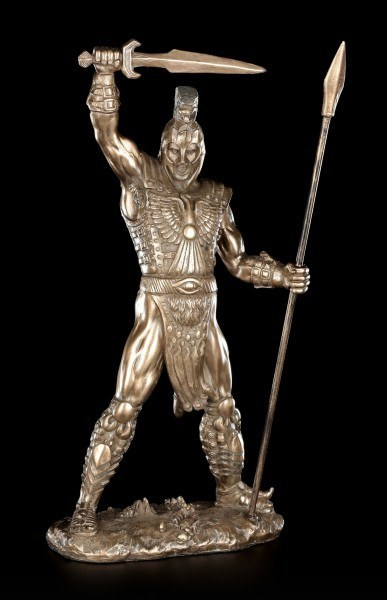 Achilles Figurine with Sword and Spear