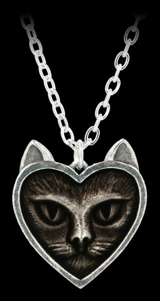 Alchemy Gothic Necklace - Love Cat