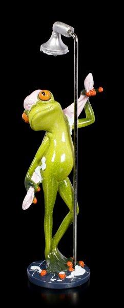 Funny Frog Figurine - Showering