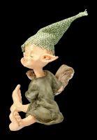 Pixie Goblin Figurine with Squirrel