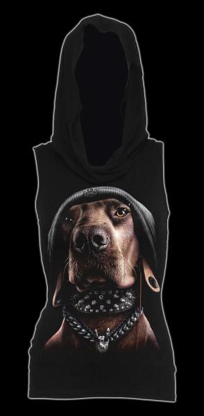 Damen Gothic Kapuzensweat ärmellos - Dawg
