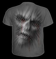 T-Shirt Horror Totenkopf - Stitched Up