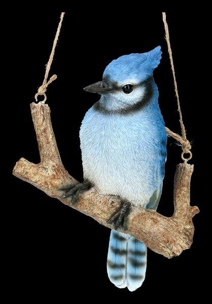 Bird Figurine - Blue Jay on Branch