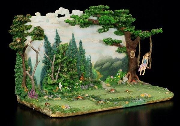 Faerie Glen Diorama mit Elfen Figur