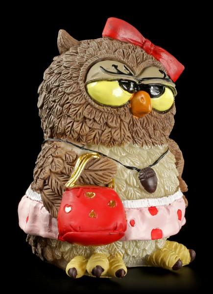 Funny Owl Figurine - Lady