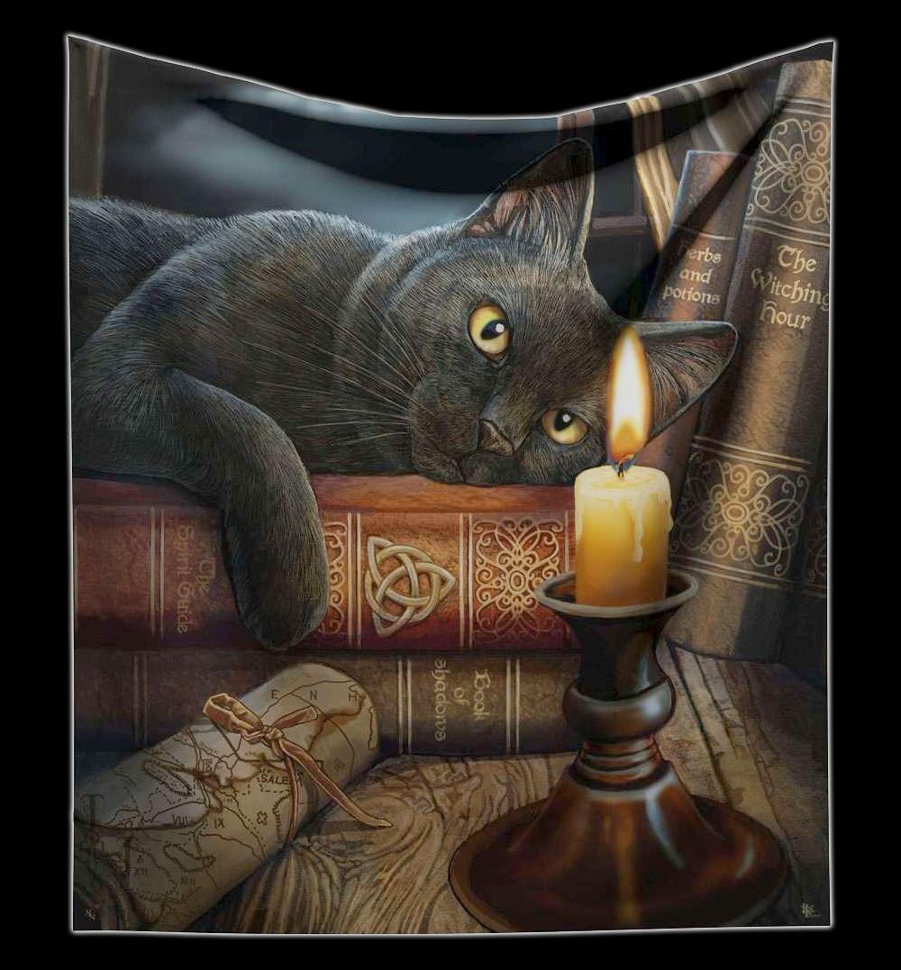 Kuscheldecke Hexen Katze - Witching Hour von Lisa Parker