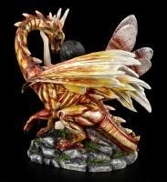 Dragon Figurine - Orange with Fairy