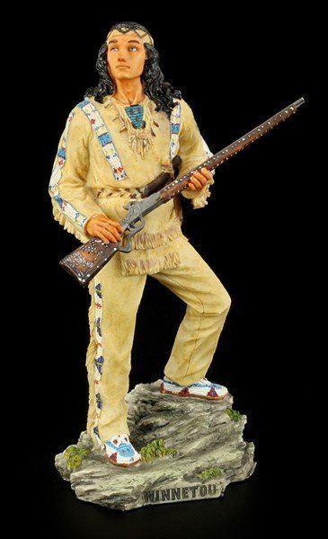 Winnetou Figurine - Standing on Rock