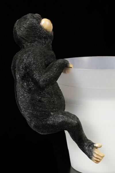 Garden Figurine Chimpanzee - Flower Pot or Fence Ornament