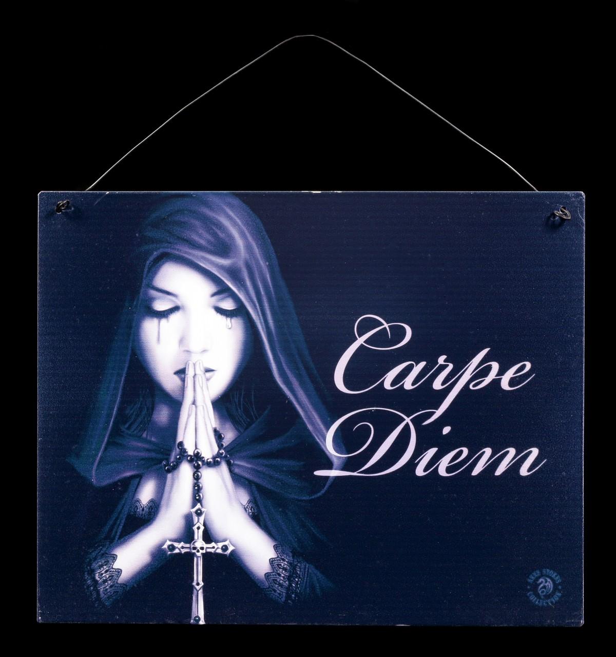 Gothic Prayer Metall Schild - Carpe Diem