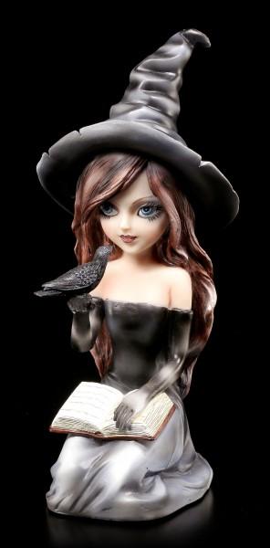 Hexen Figur - Regan mit Rabe